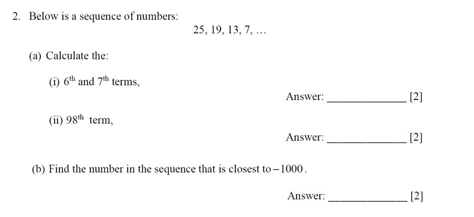Dulwich College - Year 9 Maths Specimen Paper E Question 02