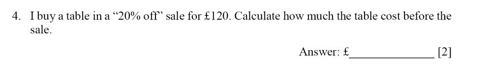 Dulwich College - Year 9 Maths Specimen Paper E Question 04