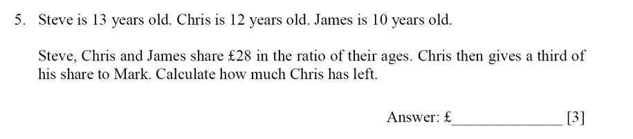 Dulwich College - Year 9 Maths Specimen Paper E Question 05
