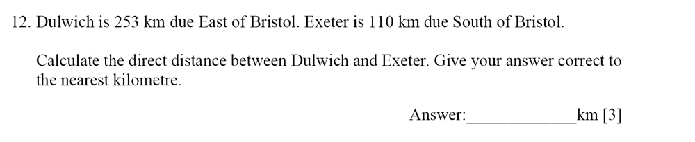 Dulwich College - Year 9 Maths Specimen Paper E Question 12