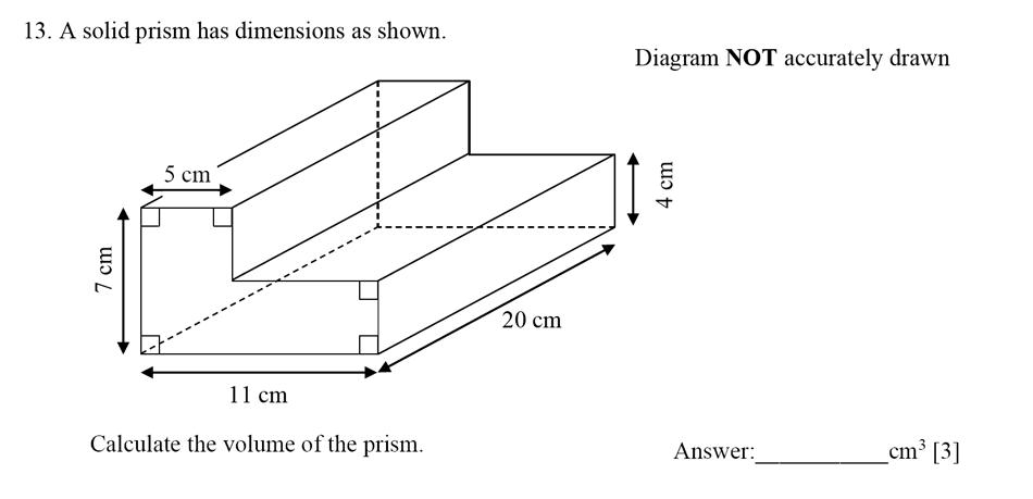 Dulwich College - Year 9 Maths Specimen Paper E Question 13