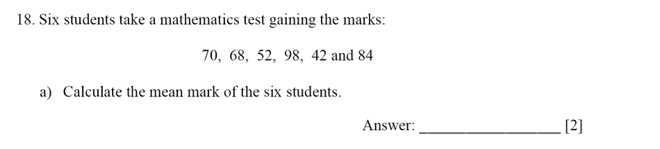 Dulwich College - Year 9 Maths Specimen Paper E Question 18