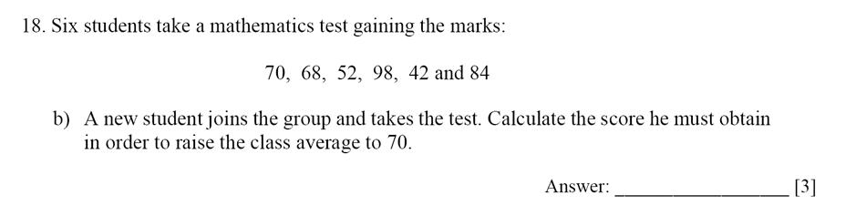 Dulwich College - Year 9 Maths Specimen Paper E Question 19
