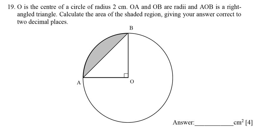 Dulwich College - Year 9 Maths Specimen Paper E Question 20