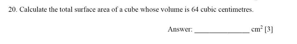 Dulwich College - Year 9 Maths Specimen Paper E Question 21