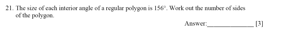 Dulwich College - Year 9 Maths Specimen Paper E Question 22
