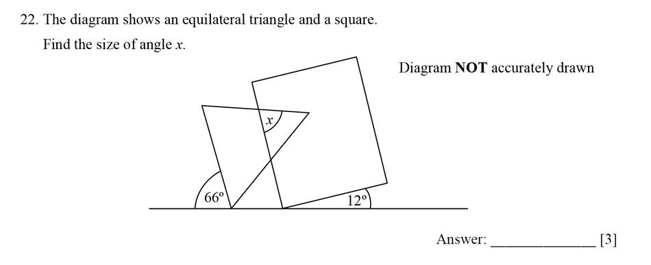Dulwich College - Year 9 Maths Specimen Paper E Question 23