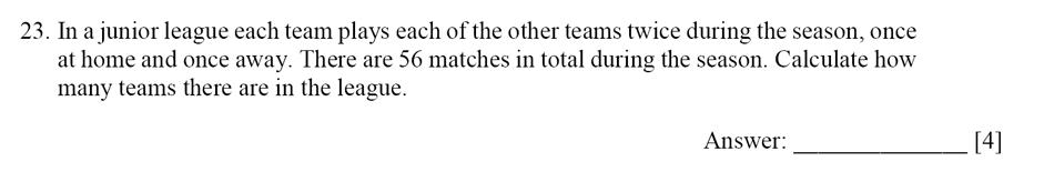 Dulwich College - Year 9 Maths Specimen Paper E Question 24
