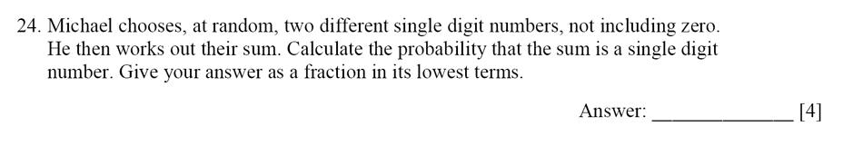 Dulwich College - Year 9 Maths Specimen Paper E Question 25