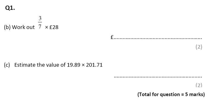 Eltham College - 13 Plus Maths Sample Paper 2017 Qusetion 02