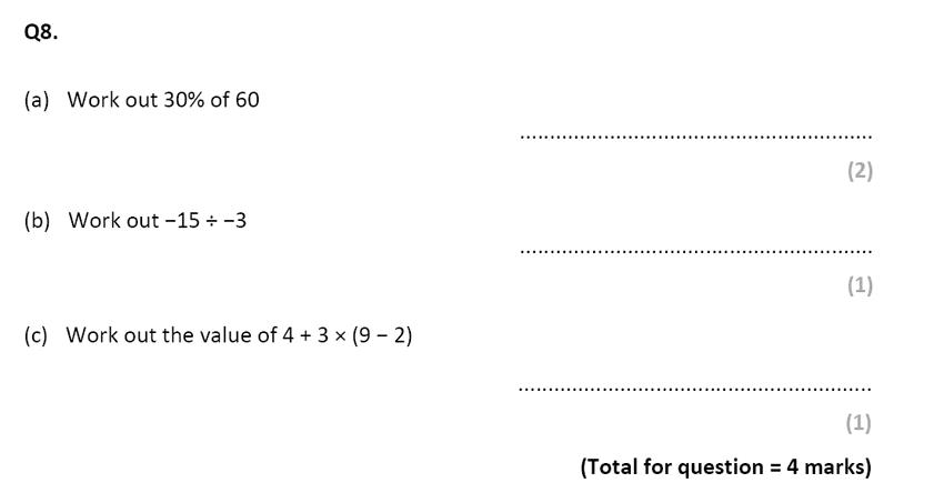 Eltham College - 13 Plus Maths Sample Paper 2017 Qusetion 10