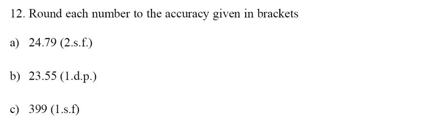 Emanuel School - 13 Plus Maths Sample Paper Question 12