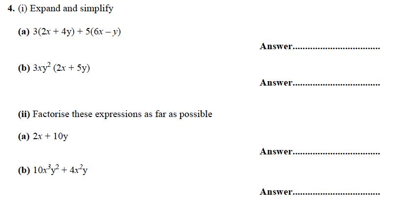 Forest School - 13 Plus Maths Sample Paper 1 Question 04