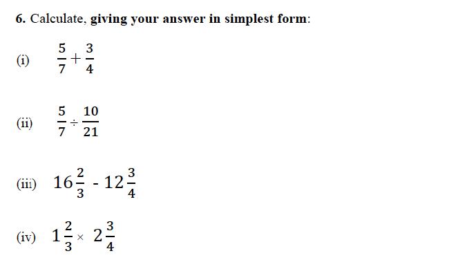 Forest School - 13 Plus Maths Sample Paper 1 Question 06