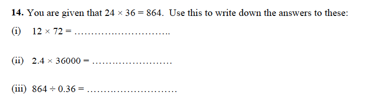 Forest School - 13 Plus Maths Sample Paper 1 Question 16