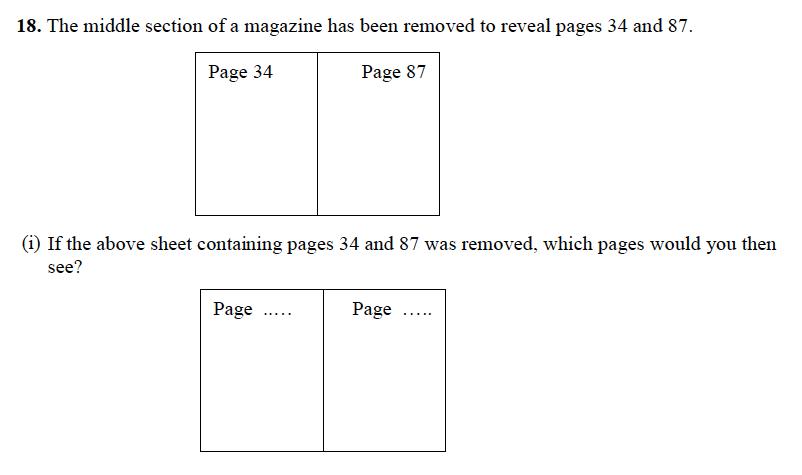 Forest School - 13 Plus Maths Sample Paper 1 Question 20