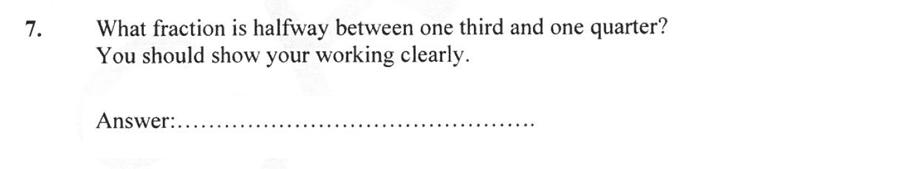 Forest School - 13 Plus Maths Sample Paper 2 Question 07