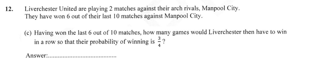 Forest School - 13 Plus Maths Sample Paper 2 Question 13