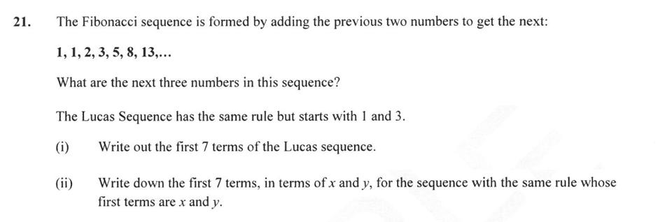Forest School - 13 Plus Maths Sample Paper 2 Question 22