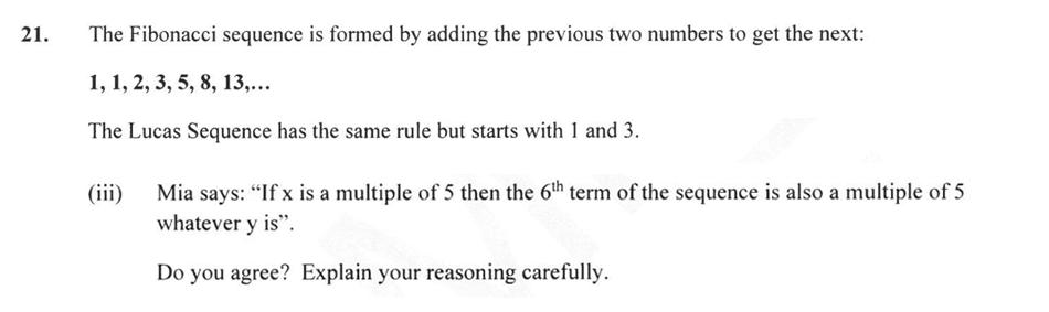 Forest School - 13 Plus Maths Sample Paper 2 Question 23