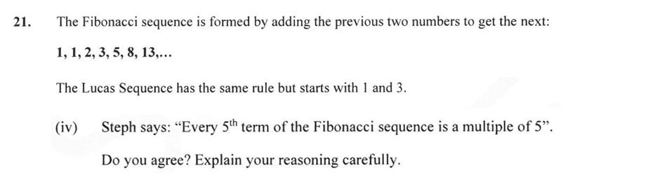 Forest School - 13 Plus Maths Sample Paper 2 Question 24