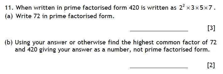 Haberdashers' Aske's Boys' School (HABS) - 13 Plus Maths Entrance Exam 2015 Question 13