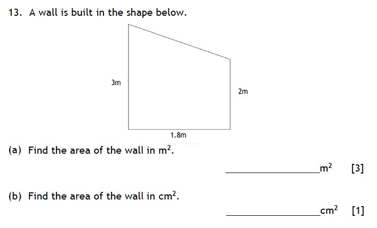 Haberdashers' Aske's Boys' School (HABS) - 13 Plus Maths Entrance Exam 2015 Question 18