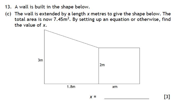 Haberdashers' Aske's Boys' School (HABS) - 13 Plus Maths Entrance Exam 2015 Question 19