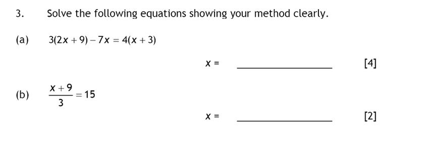 Haberdashers' Aske's Boys' School (HABS) - 13 Plus Maths Question 03