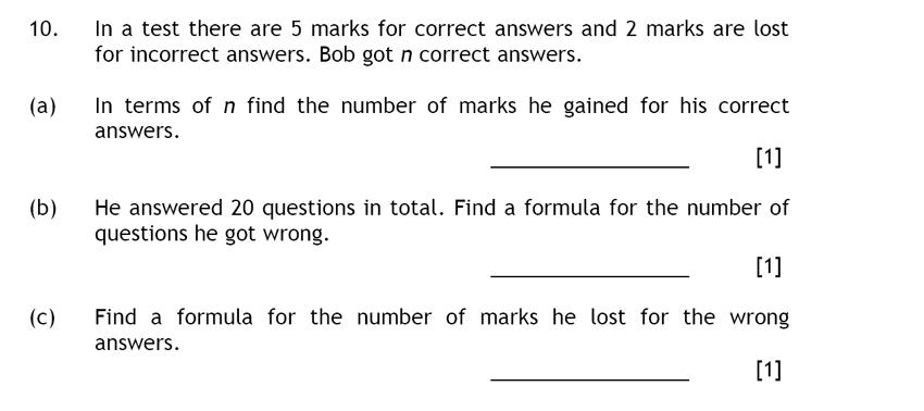 Haberdashers' Aske's Boys' School (HABS) - 13 Plus Maths Question 15