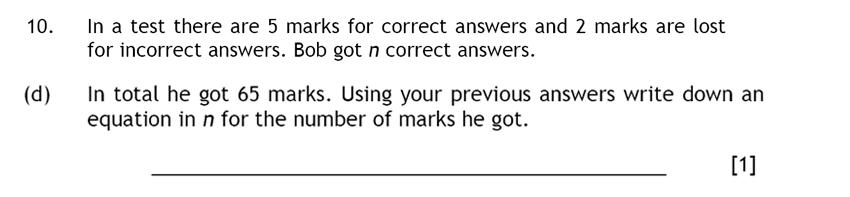 Haberdashers' Aske's Boys' School (HABS) - 13 Plus Maths Question 16