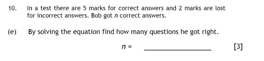 Haberdashers' Aske's Boys' School (HABS) - 13 Plus Maths Question 17