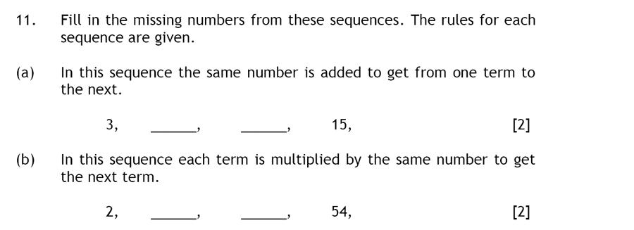 Haberdashers' Aske's Boys' School (HABS) - 13 Plus Maths Question 18