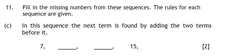 Haberdashers' Aske's Boys' School (HABS) - 13 Plus Maths Question 19
