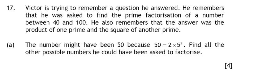 Haberdashers' Aske's Boys' School (HABS) - 13 Plus Maths Question 29