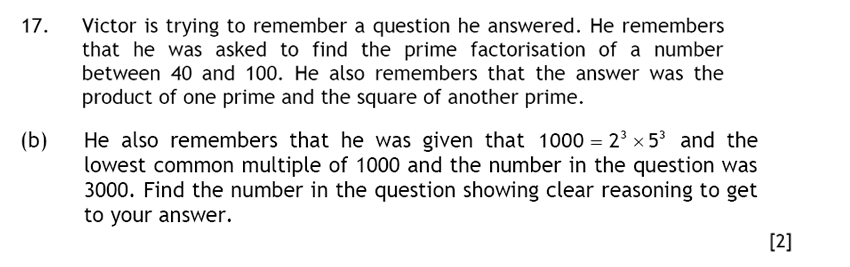 Haberdashers' Aske's Boys' School (HABS) - 13 Plus Maths Question 30