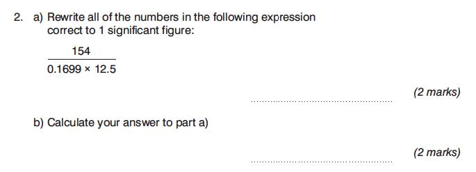 King's College Junior School - 13 Plus Maths Calculator Paper 1 Question 03