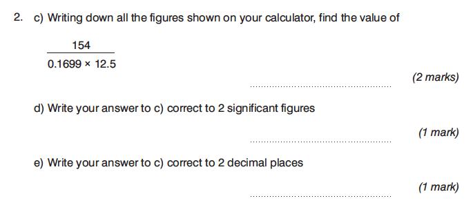 King's College Junior School - 13 Plus Maths Calculator Paper 1 Question 04