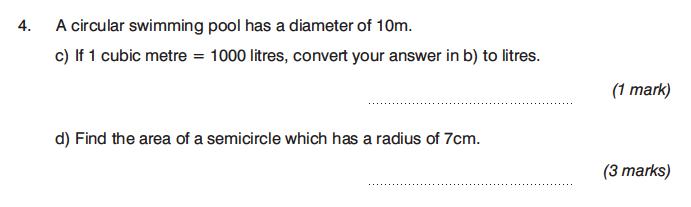 King's College Junior School - 13 Plus Maths Calculator Paper 1 Question 07