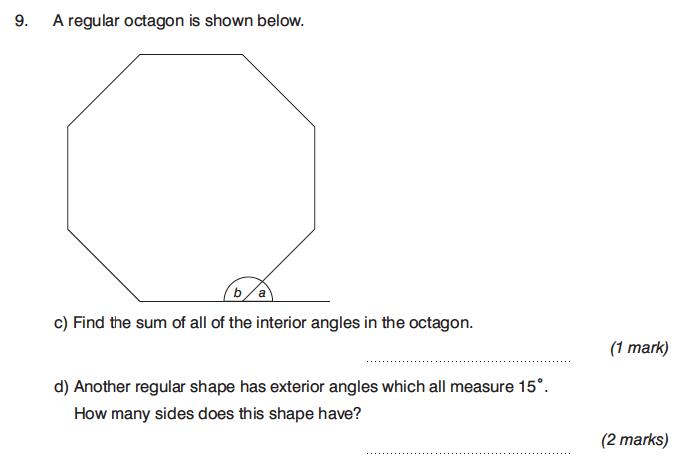 King's College Junior School - 13 Plus Maths Calculator Paper 1 Question 15
