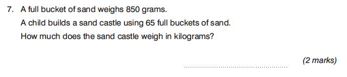 King's College Junior School - 13 Plus Maths Non-Calculator Paper 2 Question 08