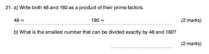 King's College Junior School - 13 Plus Maths Non-Calculator Paper 2 Question 27