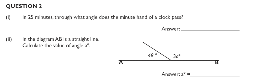 King's College School - Mathematics Section A 11 Plus and Pre-test Specimen paper for 2020 Question 03