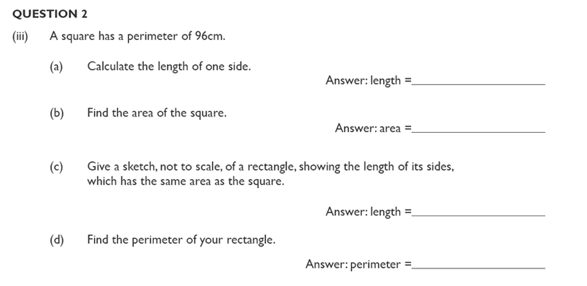 King's College School - Mathematics Section A 11 Plus and Pre-test Specimen paper for 2020 Question 04