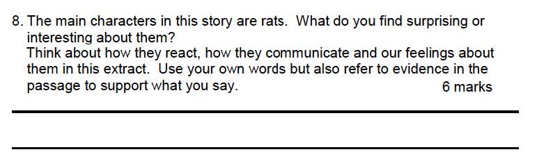 Leicester Grammar School - 10 Plus English Specimen Paper Question 08