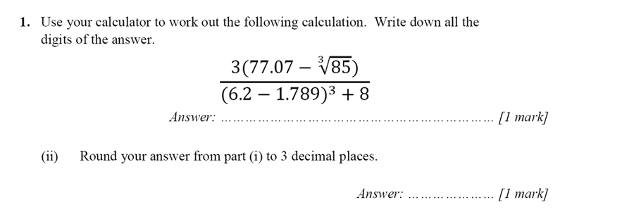 Merchant Taylors' School - 13 Plus Maths Entrance Exam 2017 Question 01
