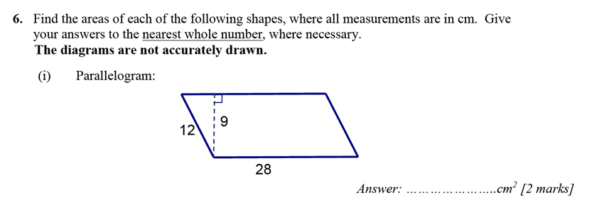 Merchant Taylors' School - 13 Plus Maths Entrance Exam 2017 Question 09