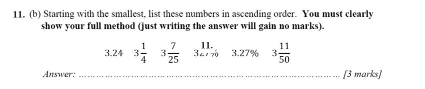 Merchant Taylors' School - 13 Plus Maths Entrance Exam 2017 Question 20