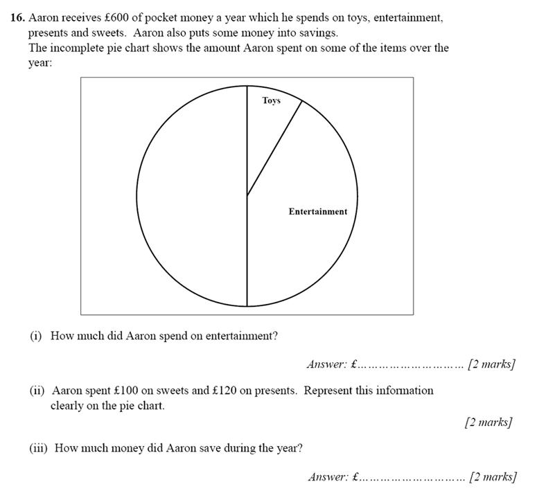 Merchant Taylors' School - 13 Plus Maths Entrance Exam 2017 Question 27