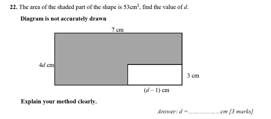 Merchant Taylors' School - 13 Plus Maths Entrance Exam 2017 Question 34